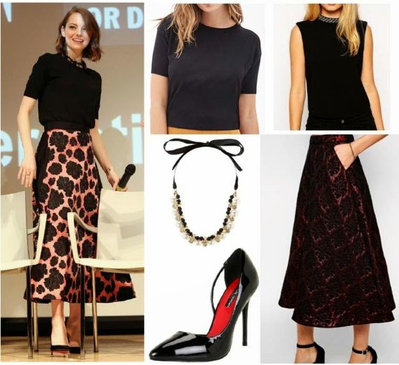 Emma Stone - Lanvin Outfit - Jaquard Skirt - Copycat Queen V