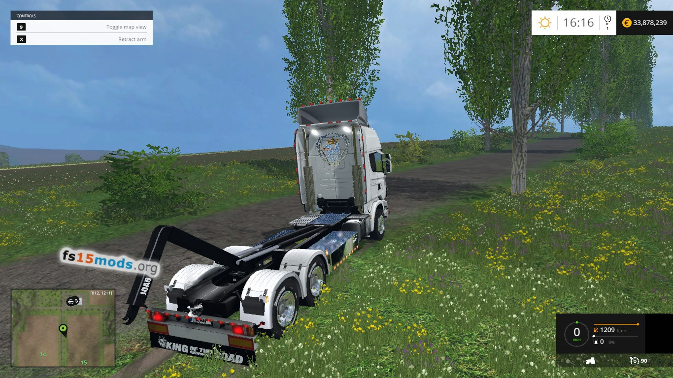 Paintable Scania HKL truck | FS15 Mods