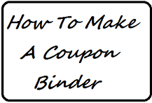 coupons, saving money, coupon binder