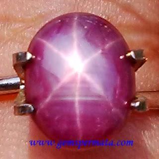 Batu Permata Natural Ruby Star