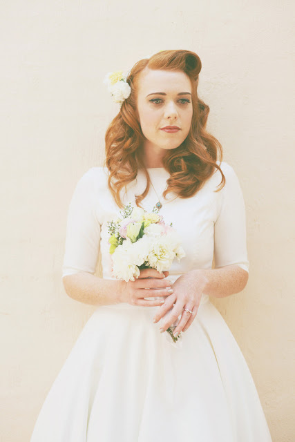 melbourne retro bride wedding dress