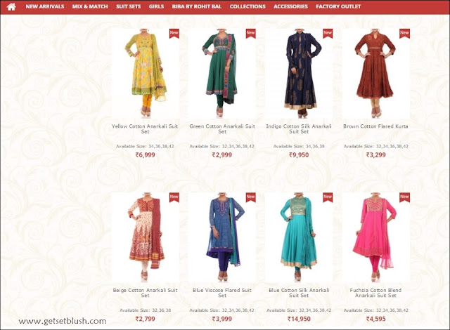 Anarkali Collection from Biba