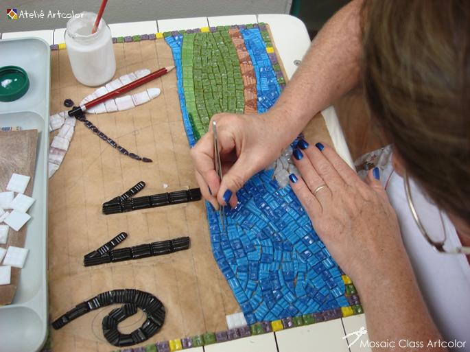 Aparador Com Gavetas Branco ~ Mosaicos Joe& Romio Curso de mosaico Estúdio J&R
