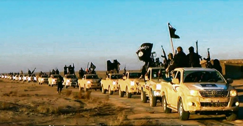ISIS In Their New Trucks Courtesy of the USA