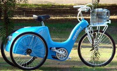 Sambil Mengayuh Sepeda, Hasilkan Air Bersih
