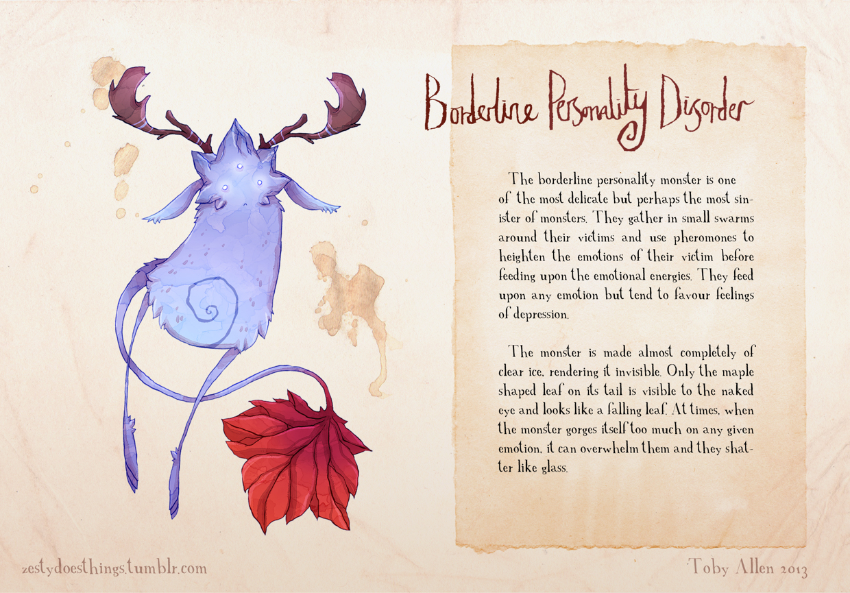 06-Borderline-Personality-Disorder-Toby-Allen-Monster-Illustrations-to-Embody-Mental-Illness-www-designstack-co