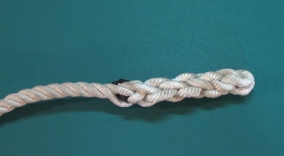 braided back splice of a rope