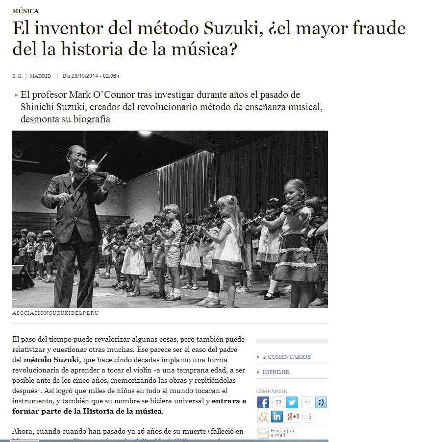 Verdades y mentiras sobre el fundador del método Suzuki