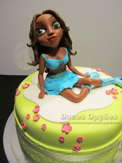 birthday cake Winx Layla sugar paste