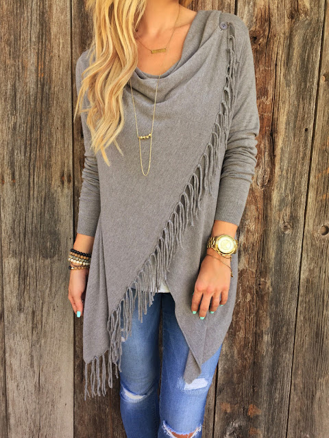 Paige Fringe Shawl for Stylish Ladies