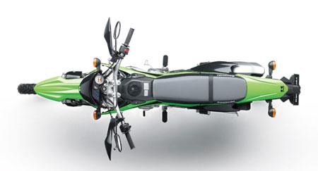 penampakan Kawasaki KLX 150 atas
