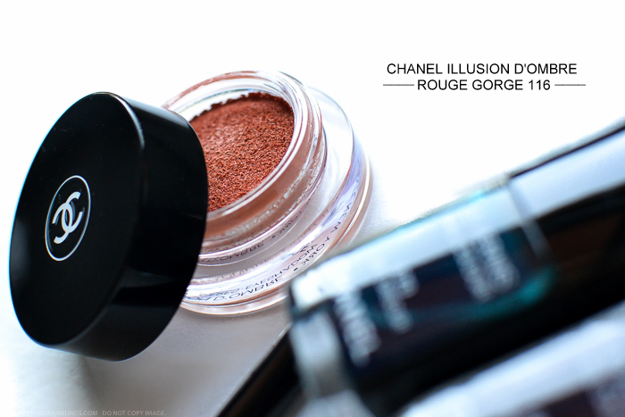 Chanel Illusion DOmbre Rouge Gorge 116 Fall 2015 Les Automnales Makeup Collection Review Swatch FOTD