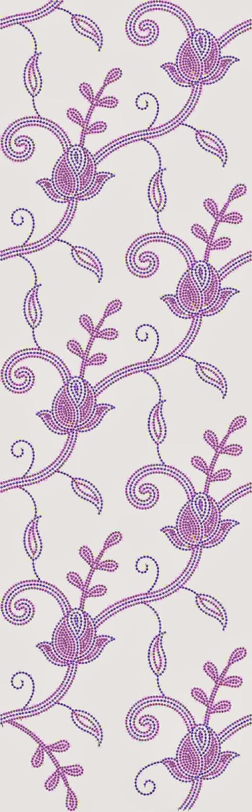 blomme kol borduurwerk Oral patroon