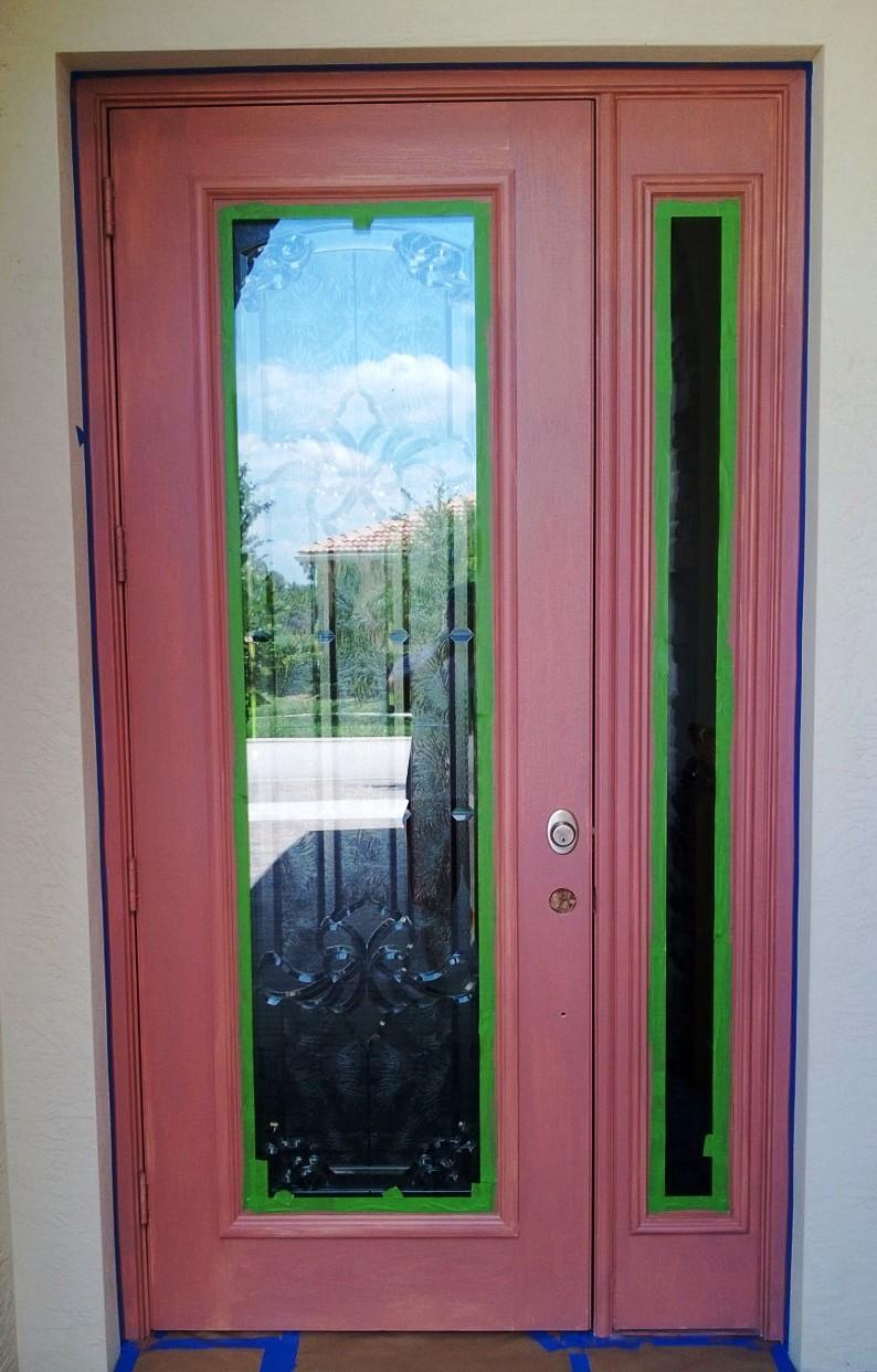 Primed Fiberglass Door
