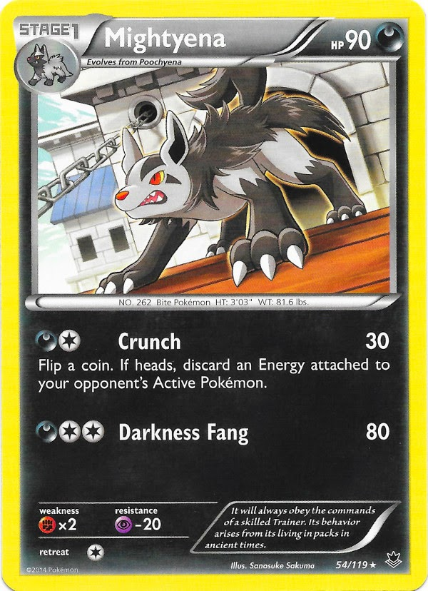 Mightyena -- Phantom Forces Pokemon Card Review ...
