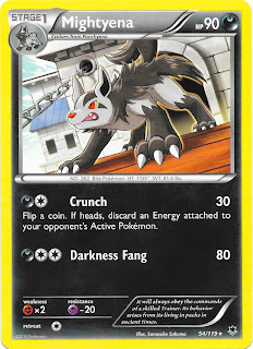 Mightyena Phantom Forces Pokemon Card