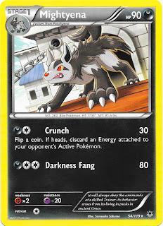 Mightyena Phantom Forces Pokemon Card
