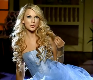 Taylor swift our song hair