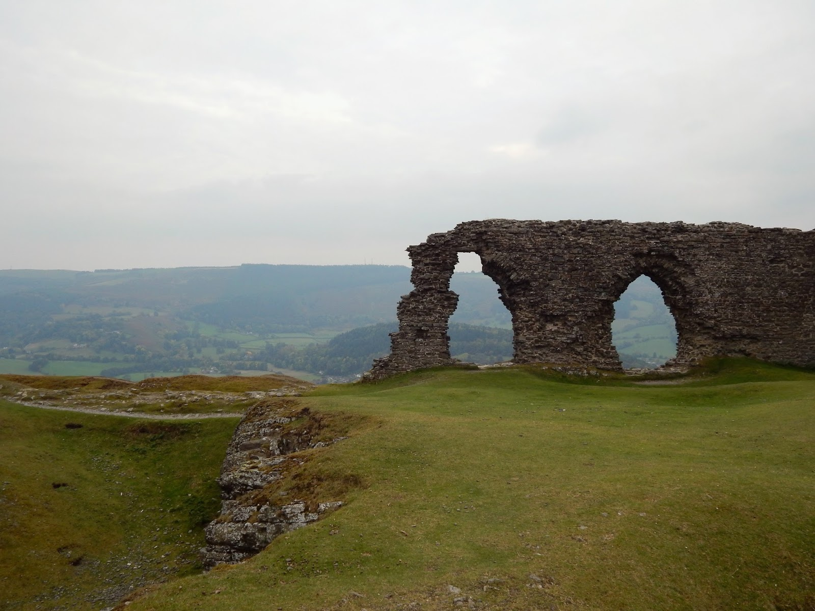 Dinas Bran North Wales in Autumn