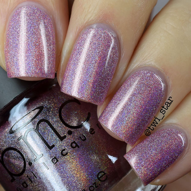Bundle Monster Holographic Polish Call You Maybe Pink Holo swatch