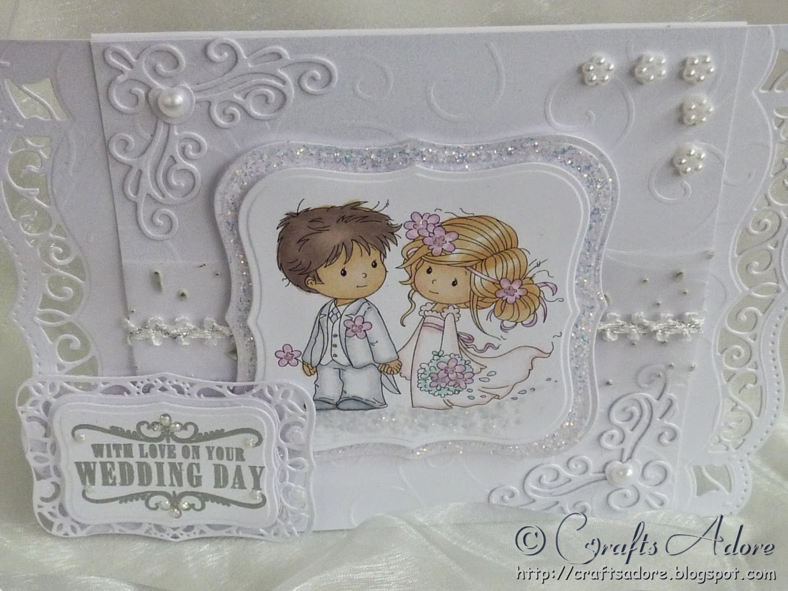"Wedding Congratulations Card with Wee Stamps ""Love Me Do"" digi stamp"