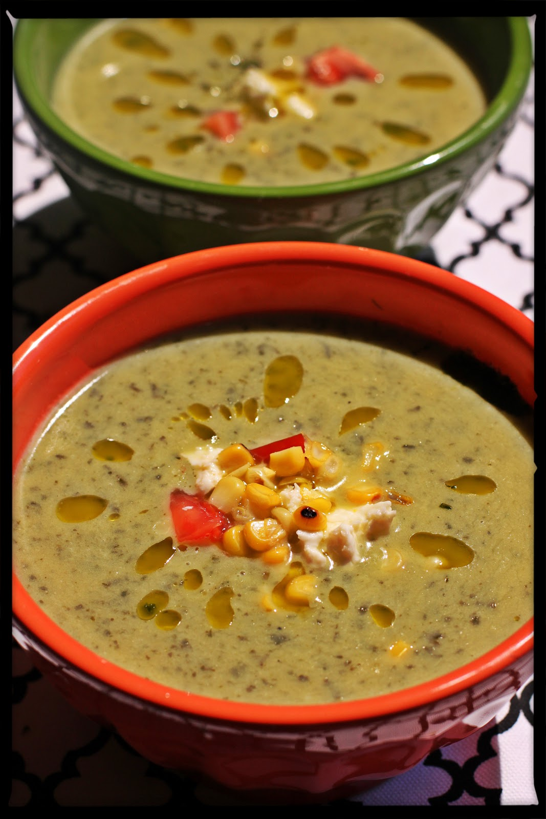 The Chickpea Chickadee: Roasted Poblano Soup