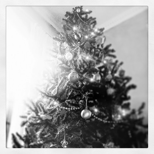 Christmas Tree Practical Cookie Black and White