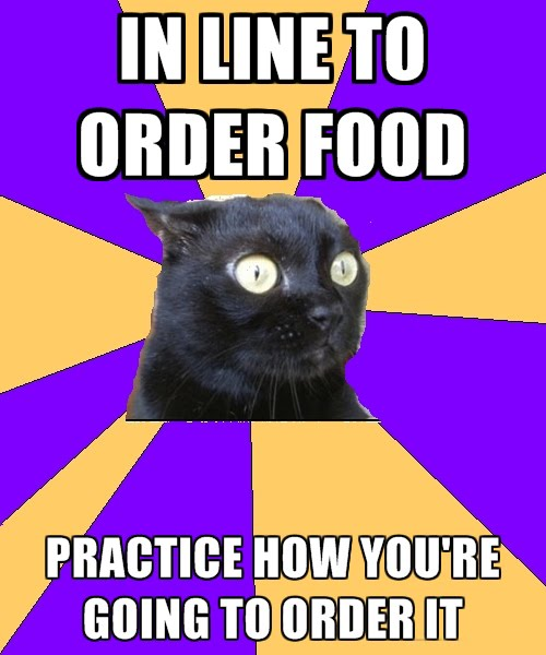 In Line To Order Food - Practice How You're Going To Order It