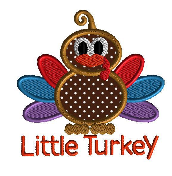 Embroidery Design Turkey Applique Design With Ric Rac