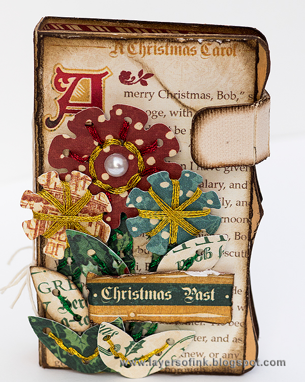 Layers of ink - Vintage Christmas Needle Book Tutorial by Anna-Karin