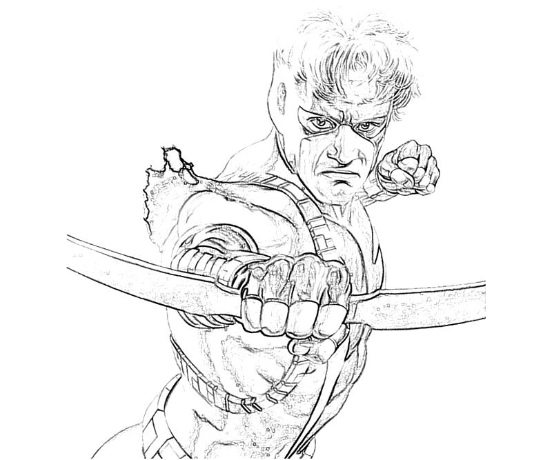 Free S Hawkeye Coloring Pages