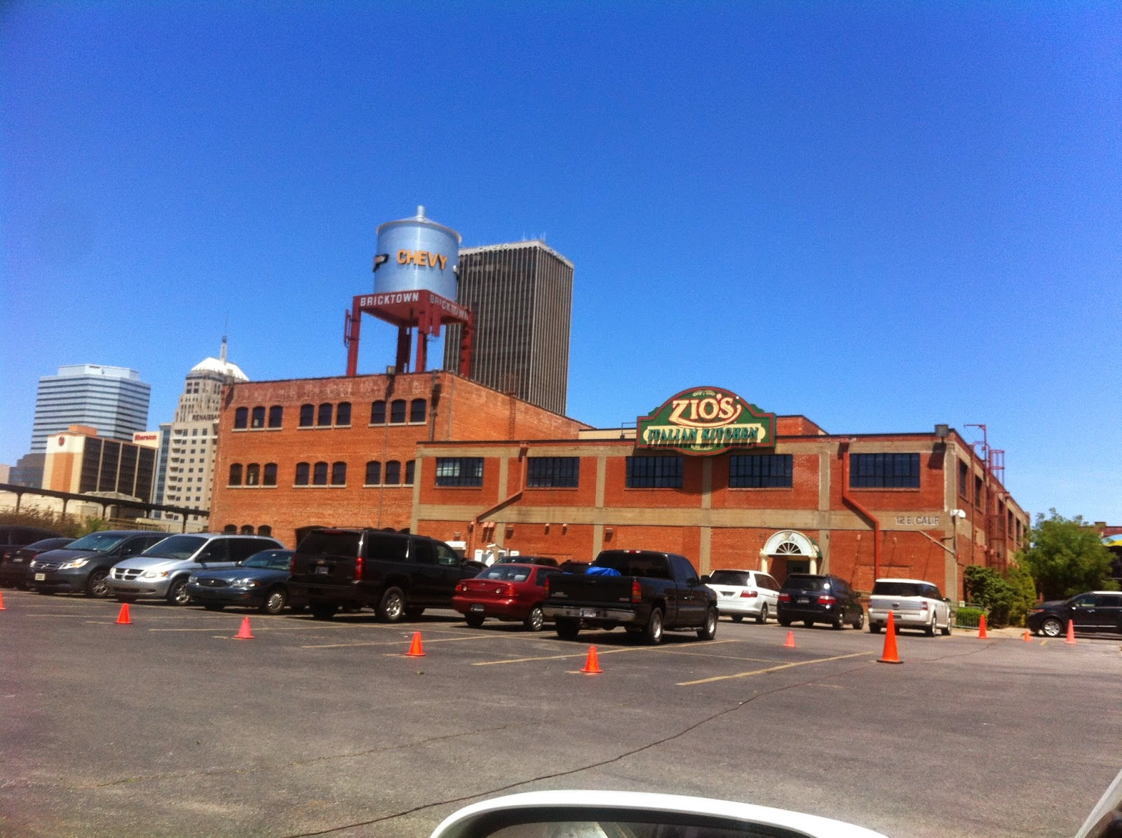 every time i drive by zios in bricktown the huge chevy water tower right beside it catches my eye i love how these businesses have taken old buildings and - Zios Italian Kitchen
