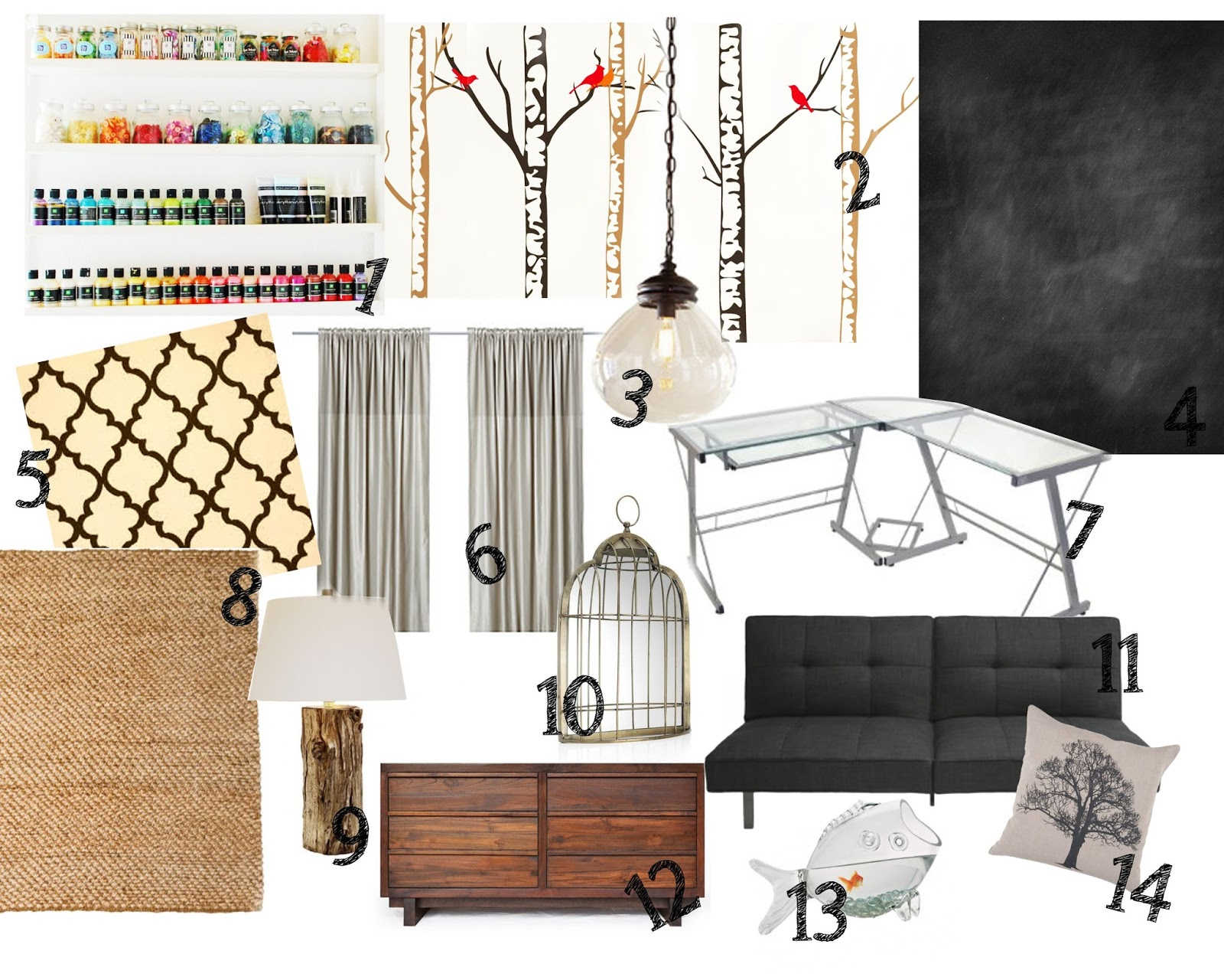 Craft Room Inspiration Board title=