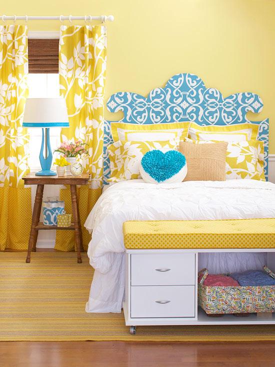 decoracao quarto azul turquesa e amarelo:Pinterest DIY Bedroom Ideas