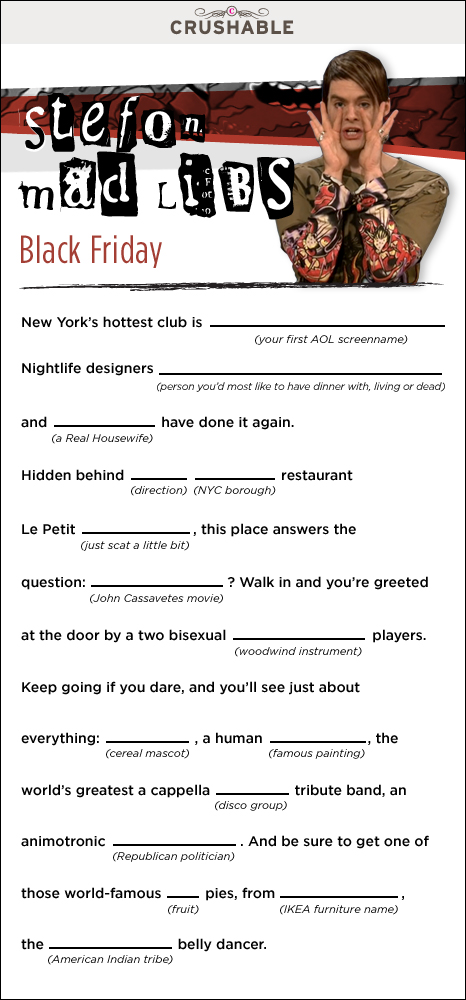 I can't come up with a humorous alt tag for this snapshot of Stefon Mad Libs. (expletive ending in -ing) hell!