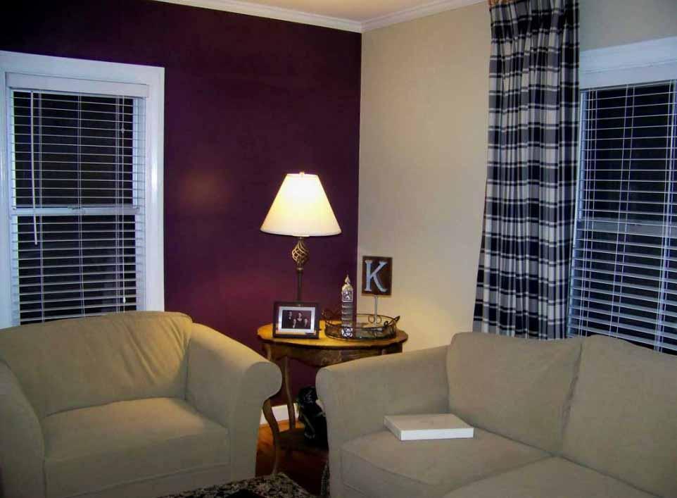 Purple Living Room Painting Ideas