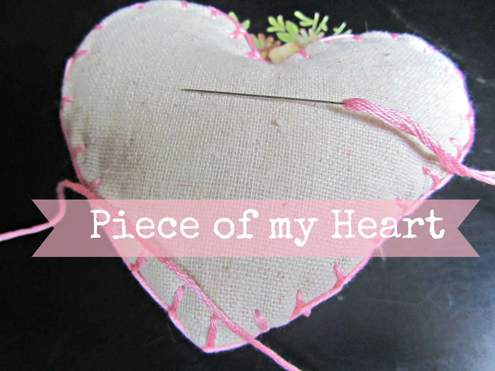 Hand stitched Linen hearts