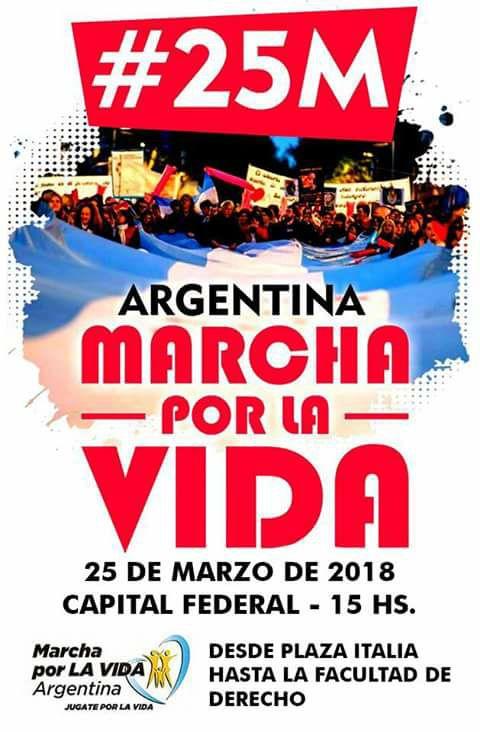 25 de marzo/ Marcha por la Vida