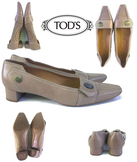 TOD S-Pantofi bej taupe din piele naturală, mărimea 37