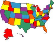US states I have traveled in