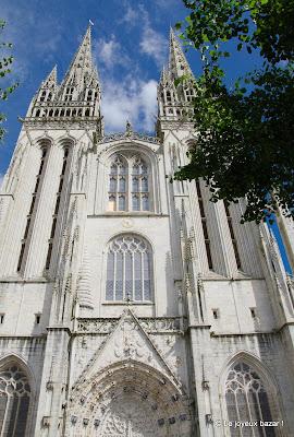 Quimper - cathédrale Saint Corentin - façade