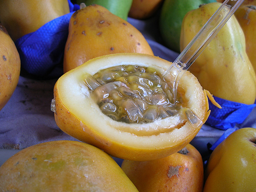 how to eat passion fruit island fruit