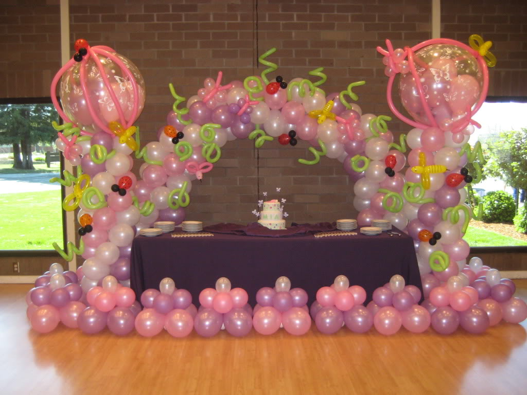 Balloon designs pictures balloon creations for Balloon decoration ideas for 1st birthday party