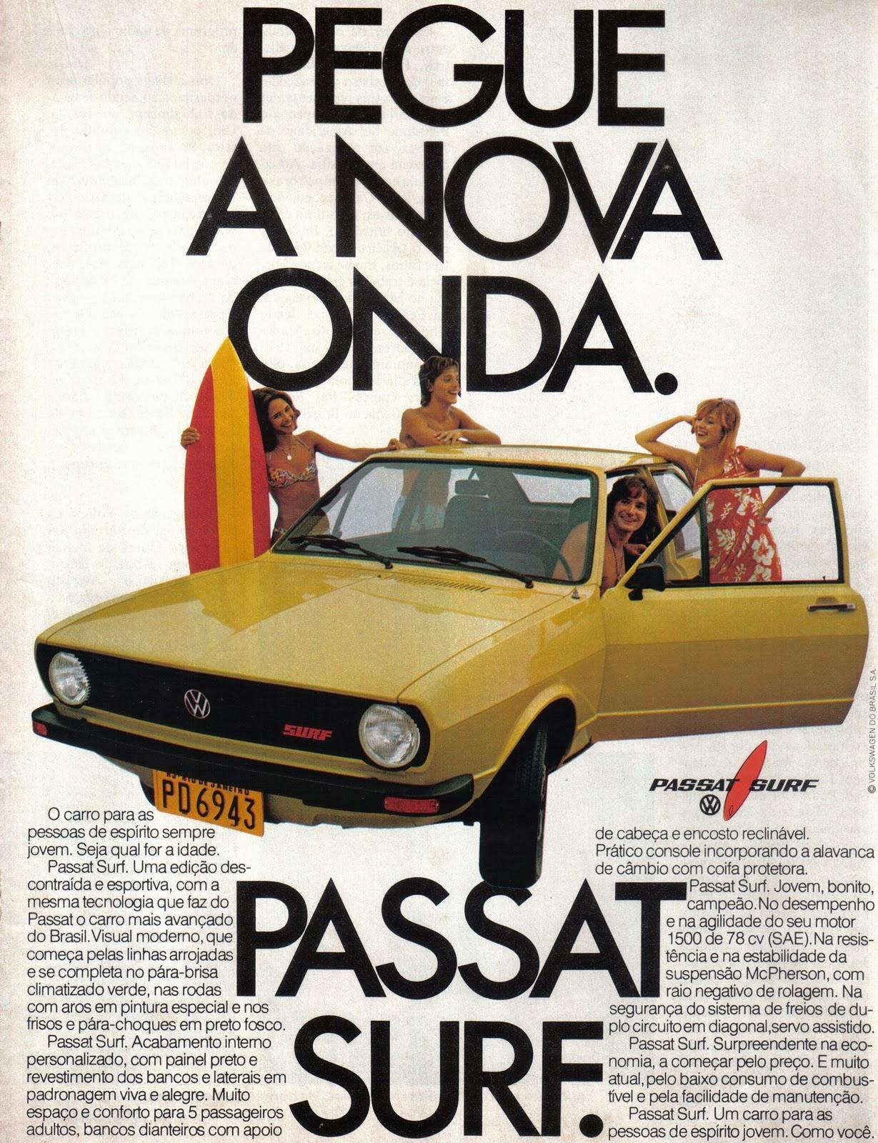 Propaganda do Passat Surf da Volkswagen - 1978.