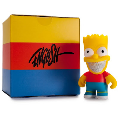 The Simpsons Bart Grin Vinyl Figure by Ron English x Kidrobot