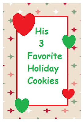 His 3 Favorite Holiday Cookies