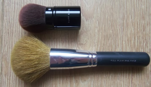 bareMinerals Full Flawless and Buff and Go brushes