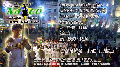 SAL DEL MONTON Y PRACTICA CAPOEIRA!!!