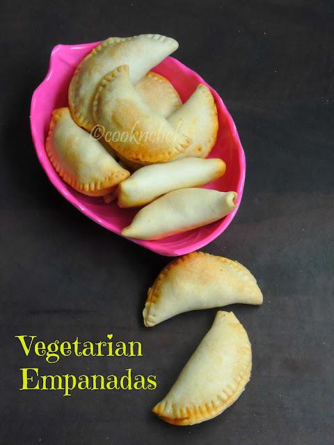 Vegetable & paneer empanadas