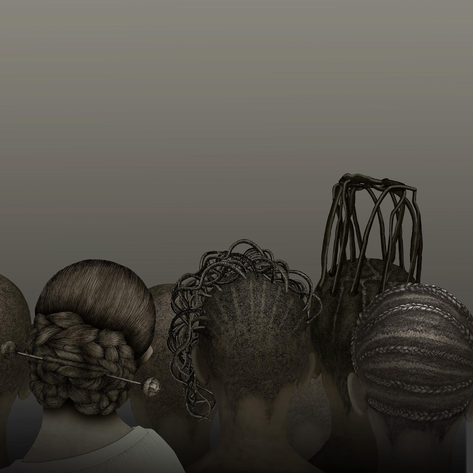 peinados africa, valencia, dibujo